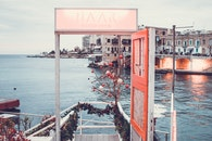 sea, city, vehicles