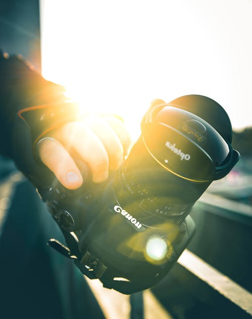 Free stock photo of camera, canon, summer, sun