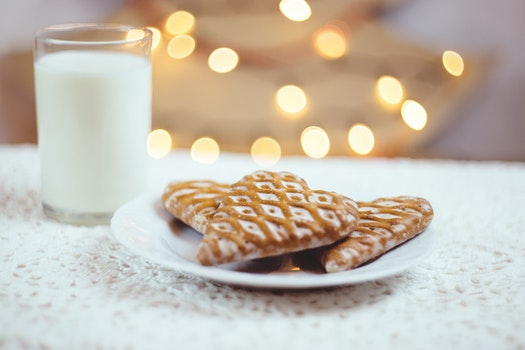 Close-up of Christmas Milk
