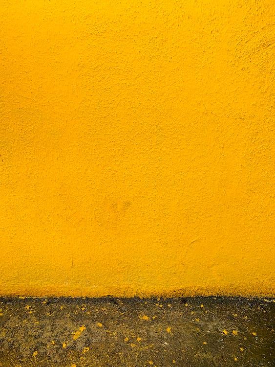 estuc, mostassa, mur de formigó