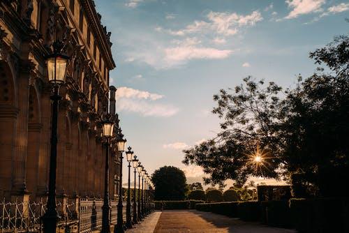Immagine gratuita di alba, alberi, architettura, bellissimo