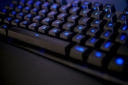 Free stock photo of blue, blur, computer, dark