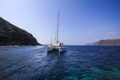 Foto stok gratis biru, kapal, katamaran, laut Mediterania
