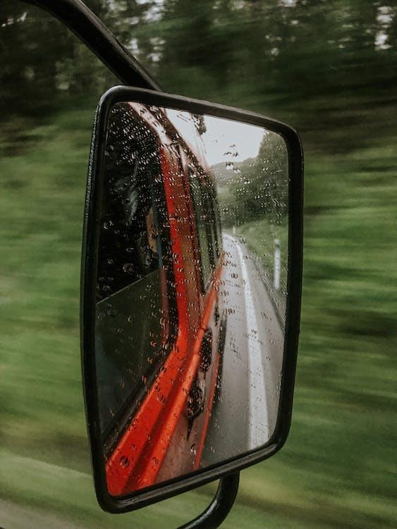 交通系統, 反射, 多雨的