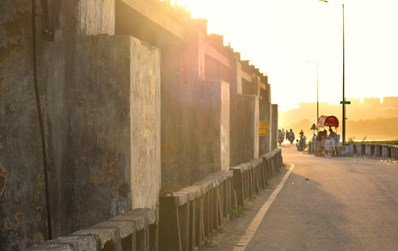 Foto profissional grátis de barragem, de manhã cedo, golden sun