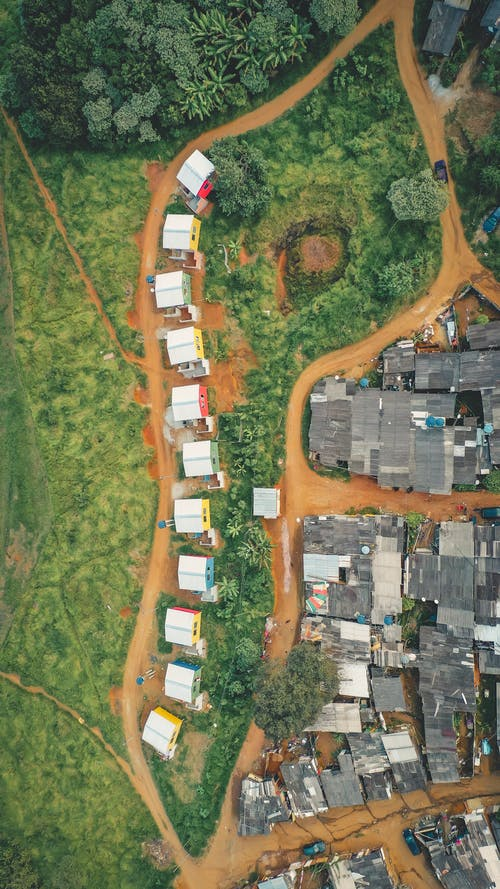 Aerial Photography of a Village