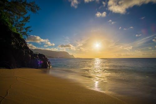 Free stock photo of beach, blue, clouds, hawaii