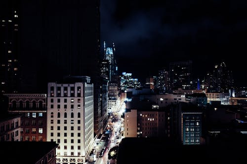Photo of CityScape Buildings at Night