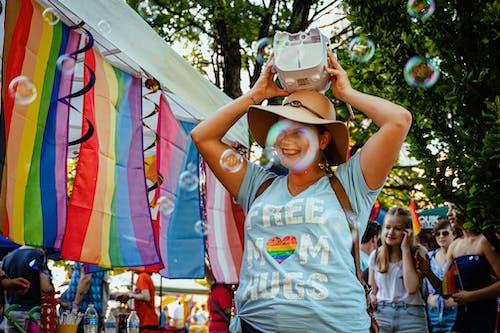 Kostnadsfri bild av bubblor, färgrik, firande, fokus