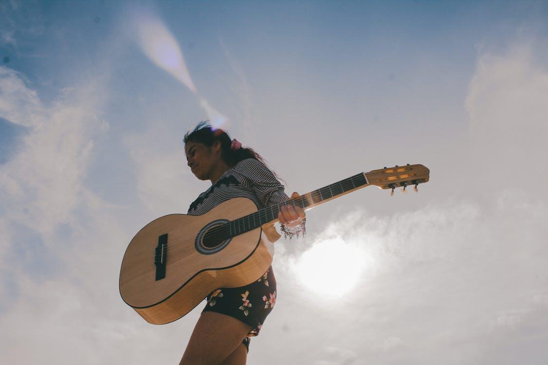 akustik gitar, gitar, gitarist