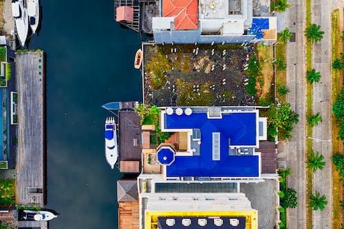 Photos gratuites de arbres, architecture, bateaux, bâtiments