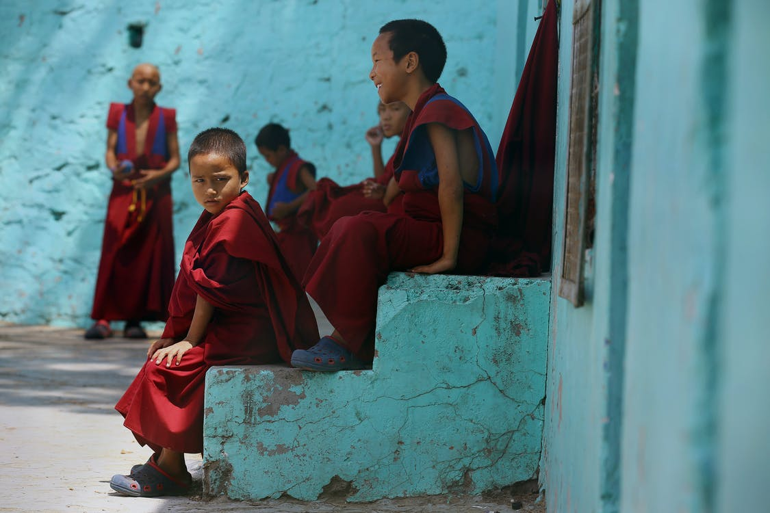 Photo of Little Monks in Robes