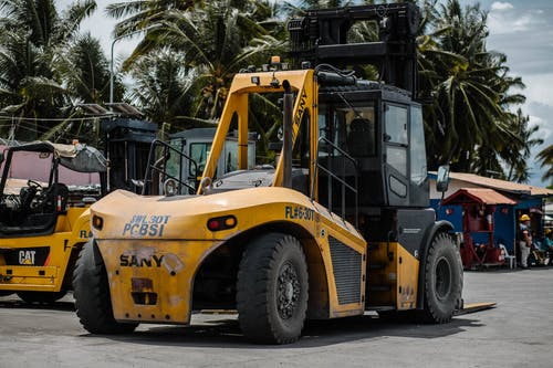Photo of Parked Yellow Forklift Truck