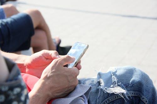 Man Using His Smartphone