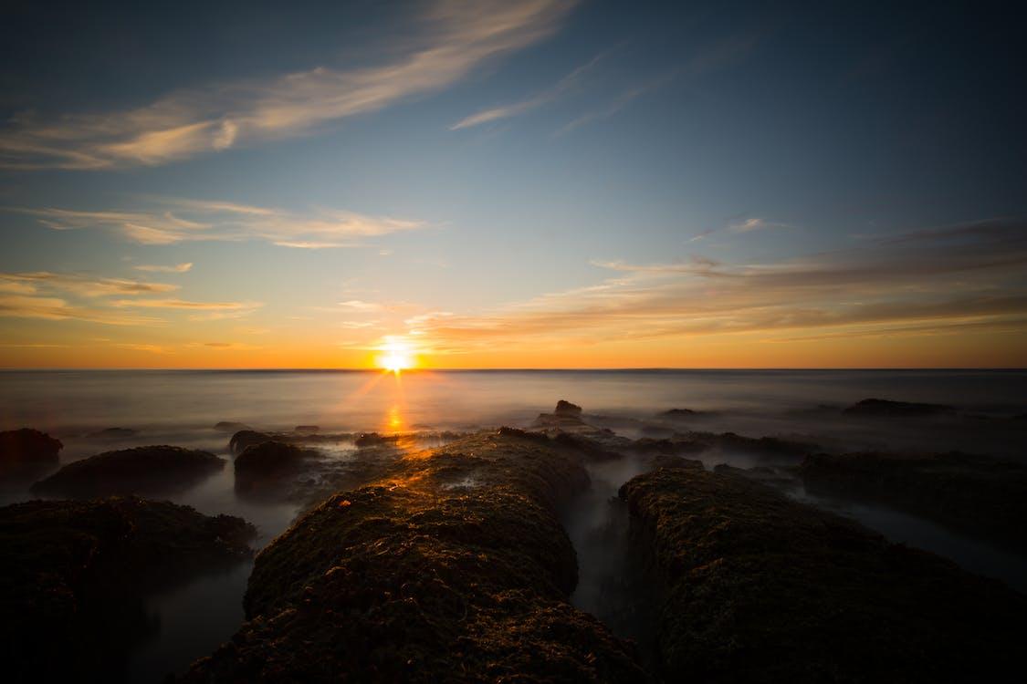 바다, 바다 경치, 바위