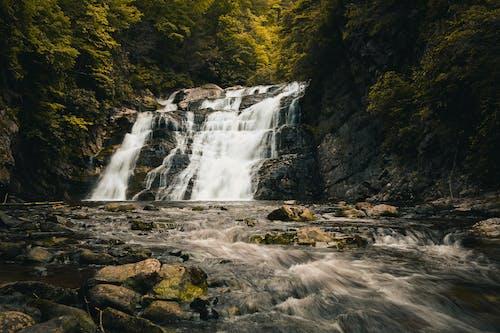 Ilmainen kuvapankkikuva tunnisteilla joki, kivet, luonto, pitkä valotus