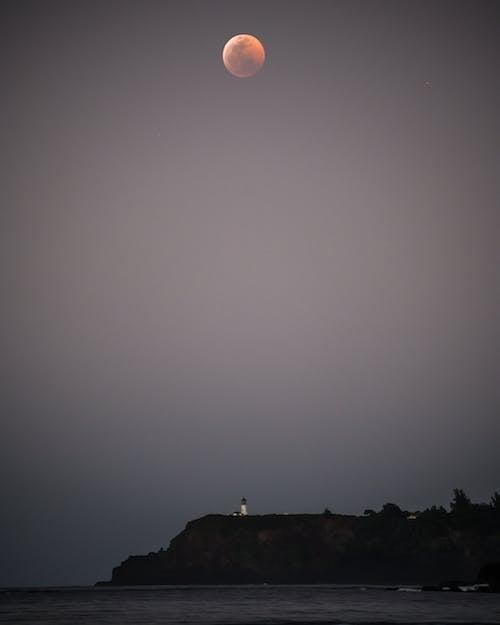 Free stock photo of beach, blood moon, hawaii, lighthouse