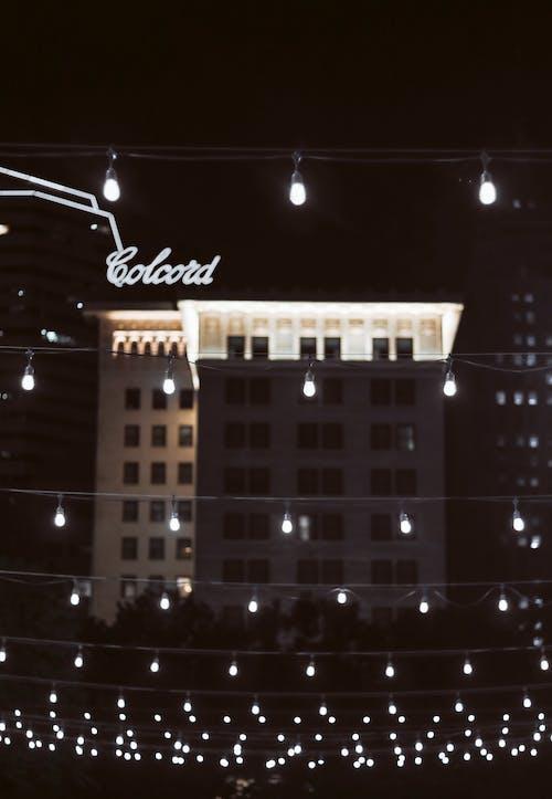 gece, gece şehir, okc, şehir merkezi içeren Ücretsiz stok fotoğraf