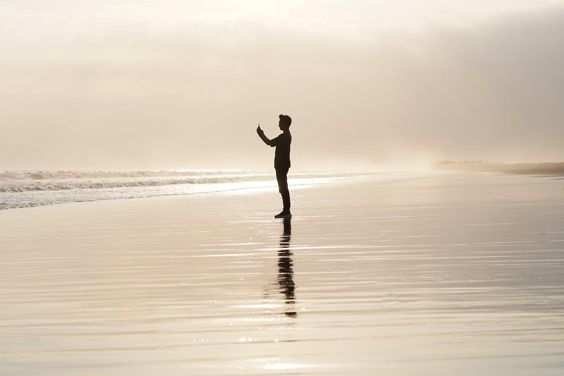 agua, amanecer, cielo