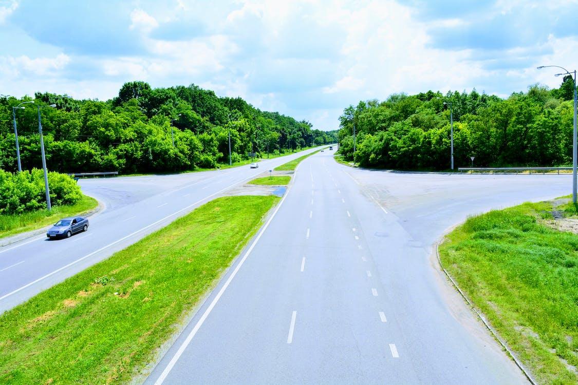 асфальтированная дорога, дорога, мост