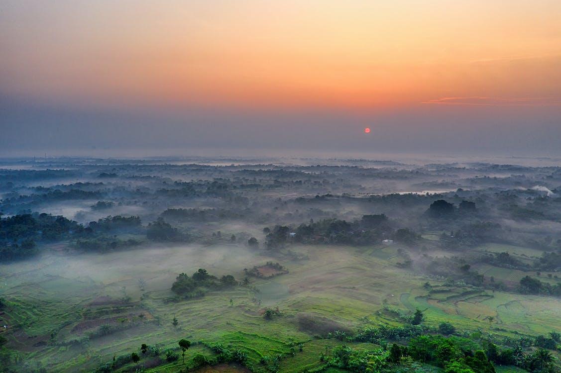восход, живописное небо, живописный