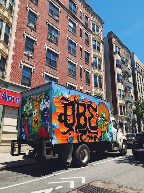 Free stock photo of graffiti, new york city, street, trucks