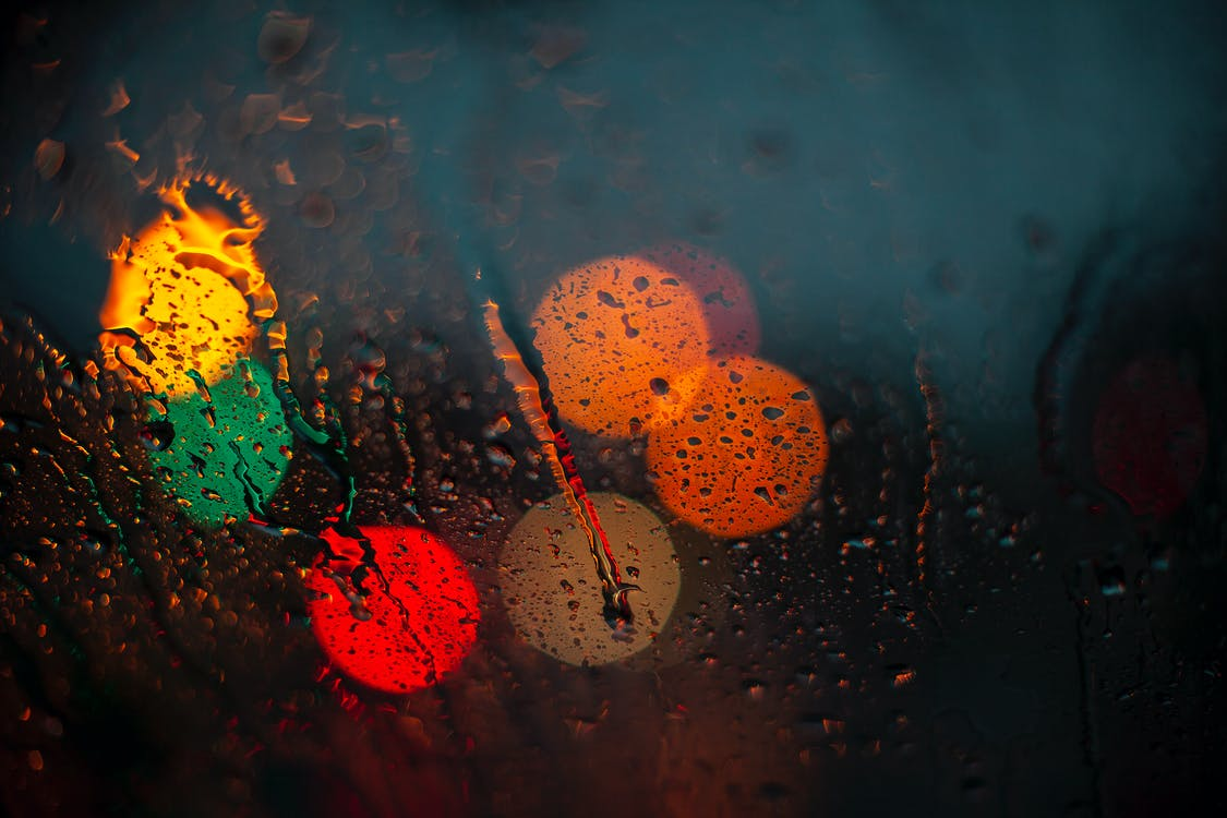 Close-Up Photo of Waterdrops on Glass