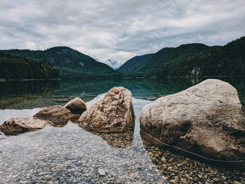 Photo of Boulders on Lake