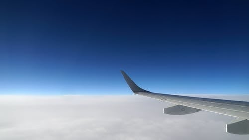 Plane Wing From Airplane Window