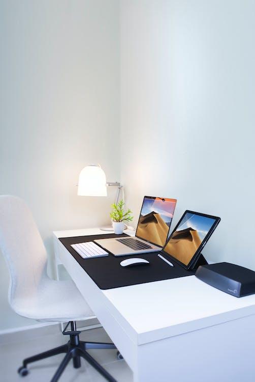 bezprzewodowy, biurko, biuro