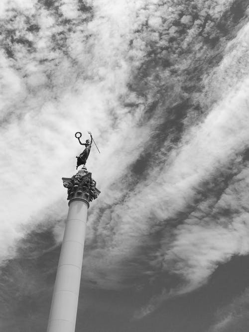 Foto stok gratis angkasa, california, hitam dan putih