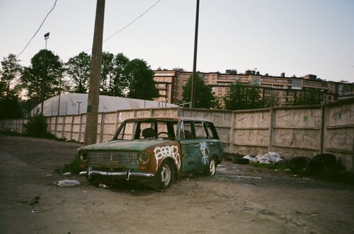 Ingyenes stockfotó autó, elhagyatott, jármű, leparkolt témában