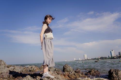 休閒, 夏天, 太陽, 女人 的 免费素材照片