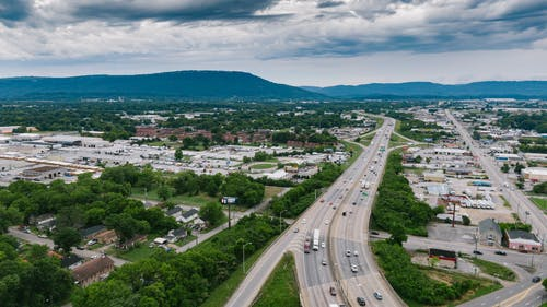 Photos gratuites de autoroute, chattanooga, circulation, d'en haut