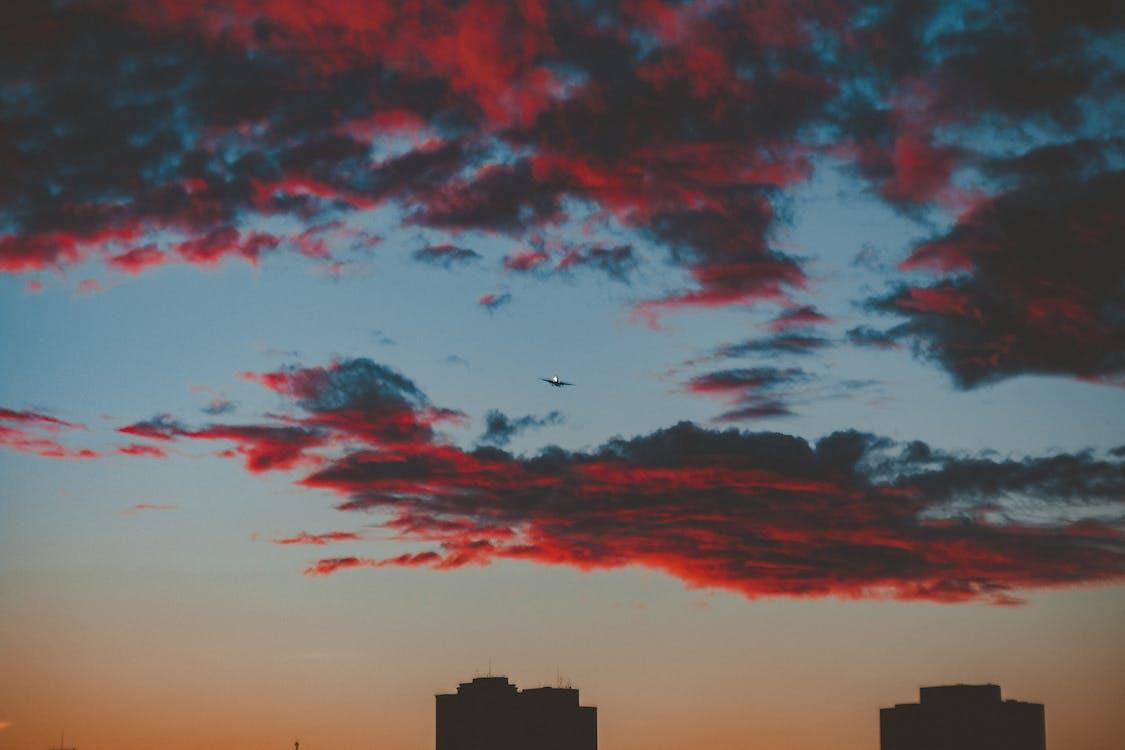 bầu trời, bình minh, bóng