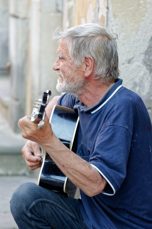 Imagine de stoc gratuită din artist, atracție turistică, bătrân, bătrân chitarist