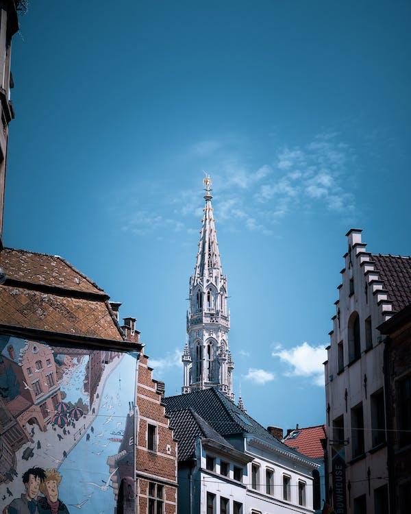 arkitektur, blå himmel, brugge