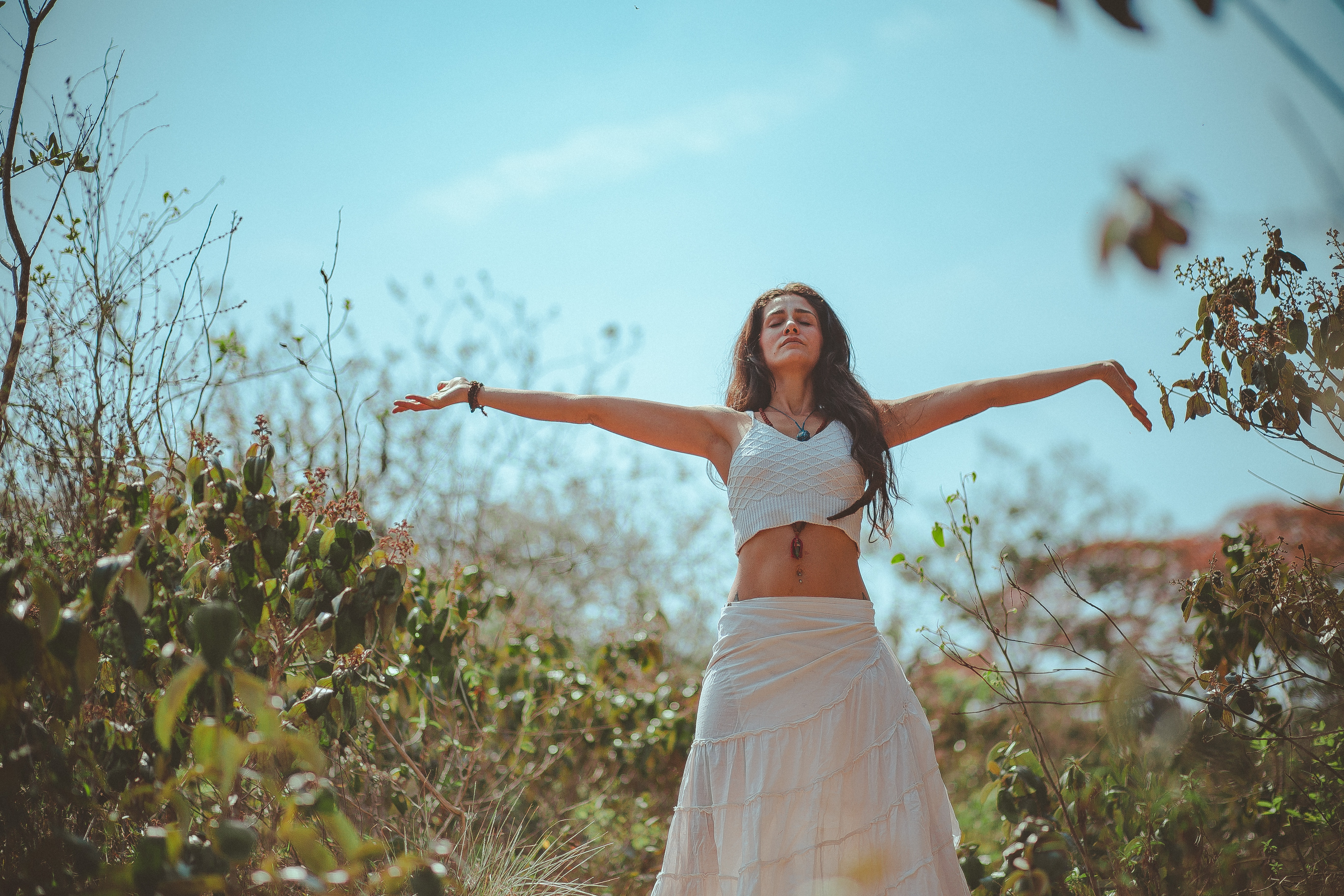 Free Spreading Pics woman spreading both her arms · free stock photo