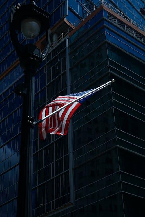 al aire libre, bandera, bandera estadounidense