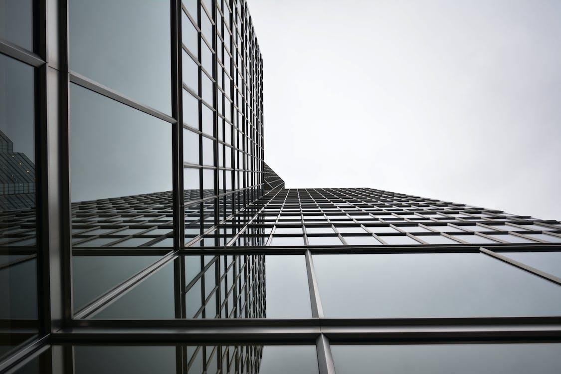 alto, arquitectura, blanco y negro