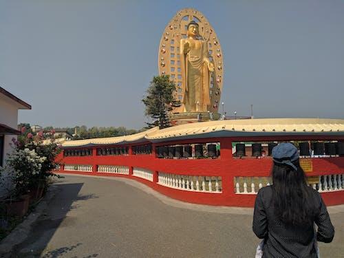 佛, 佛寺, 女人 的 免費圖庫相片
