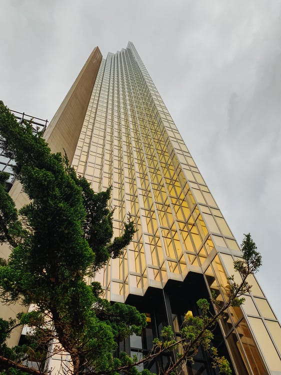 Low Angle Photography of Curtain Wall Building