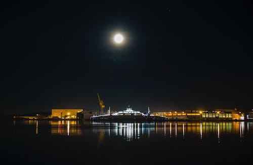 Gratis stockfoto met nachtlampen, veerboot