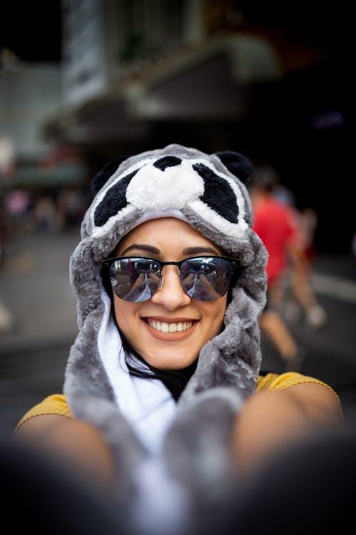 Photo of Woman Wearing Panda Hat