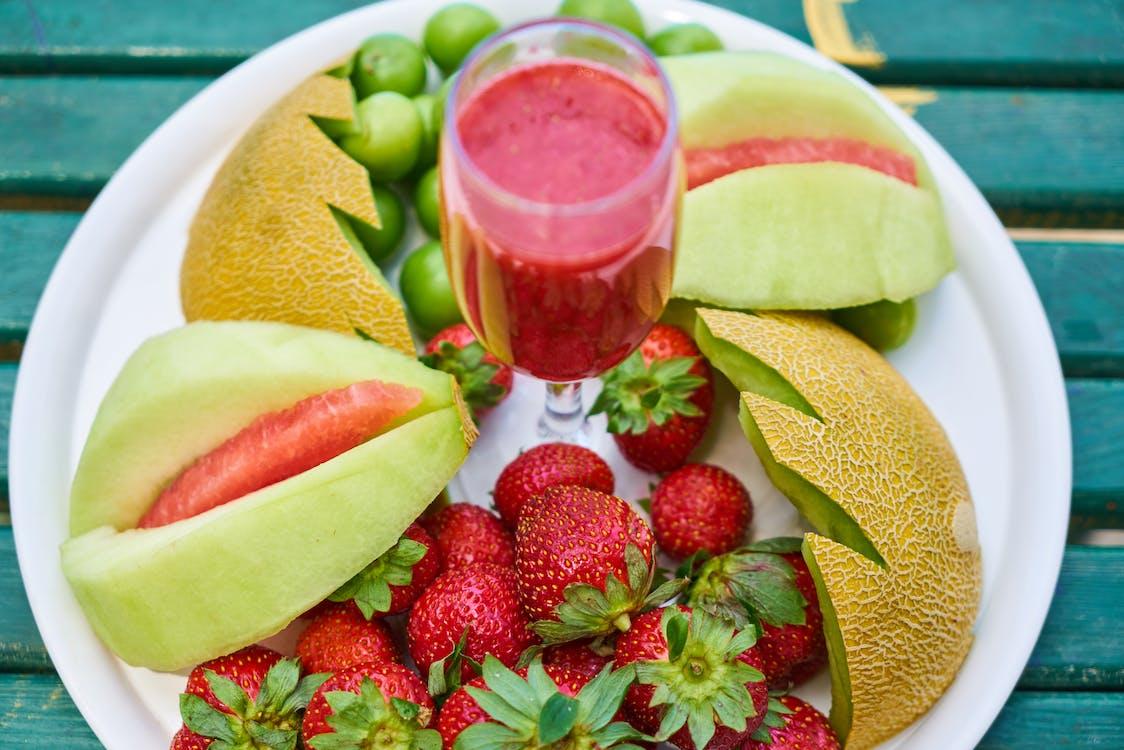 băutură, băutură răcoritoare, căpșuni