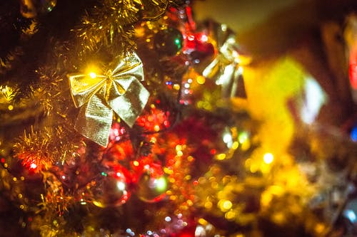 Free stock photo of cand, christmas, decoration, golden