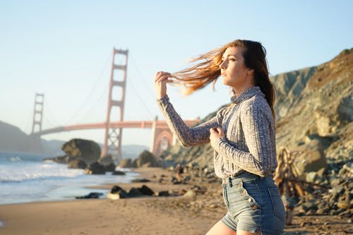golden gate köprüsü, Kadın, kişi, turistik atraksiyon içeren Ücretsiz stok fotoğraf