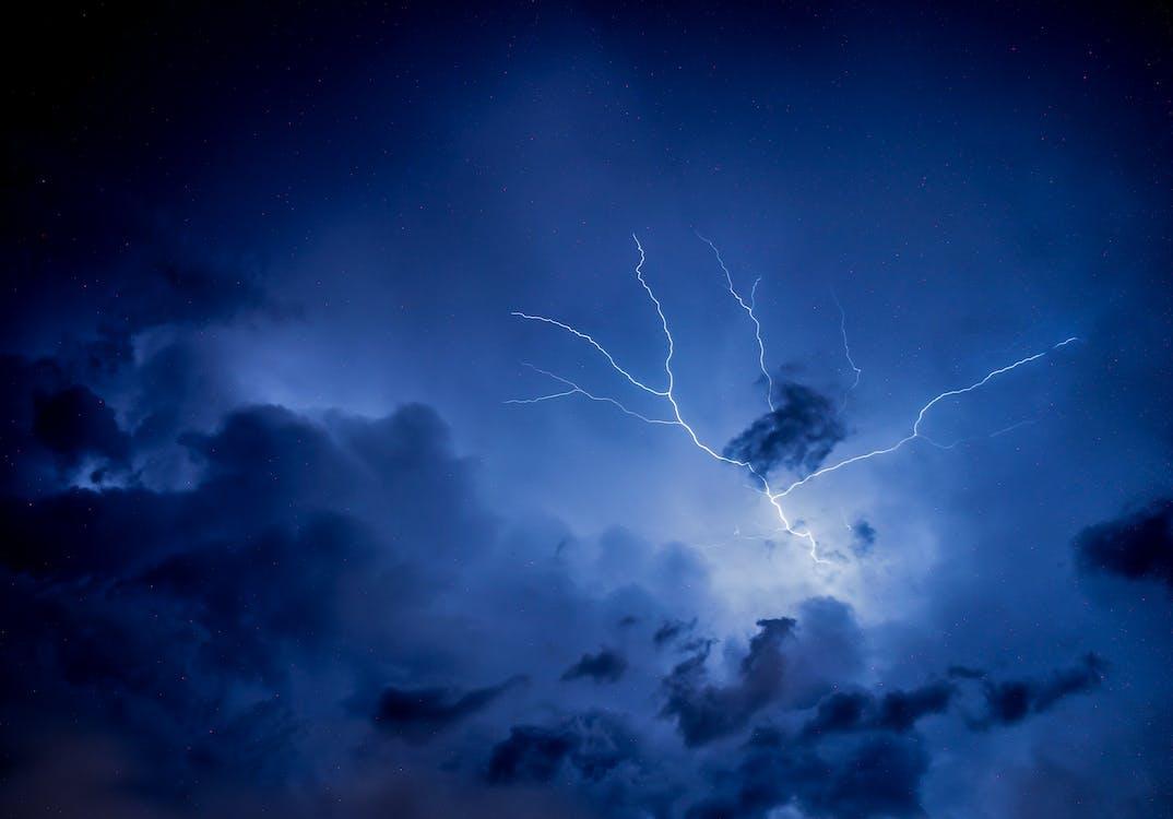 ég, éjszaka, eső