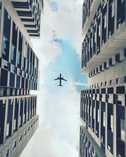 Low-Angle Photo of Airplane Flying