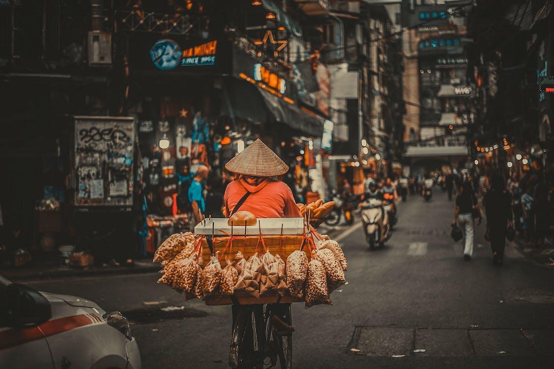 Asien, cykel, fokus